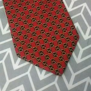 Brooks Brothers Makers Red Pattern Silk Tie EUC